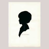 Front of silhouette, Boy looking left