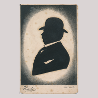 Front of silhouette, Man looking left