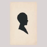 Front of silhouette, Boy looking to the right