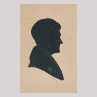 Front of silhouette, Woman looking to the right
