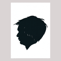 Front of silhouette, Boy looking to the left
