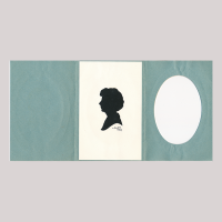Front of silhouette, Woman looking to the left