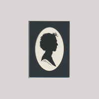 Front of silhouette, Young man looking to the right